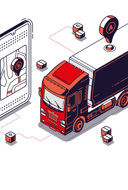 Illustration Lastwagen GPS